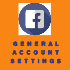 General Account Settings on FB